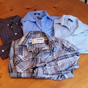 Multiple long sleeve shirts